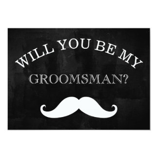 Black Chalkboard Will You Be My Groomsman Card