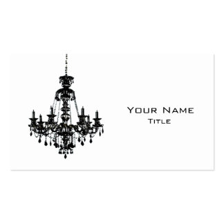 Black Chandelier Business Card 1