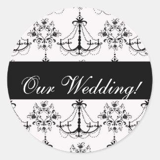 Black Chandelier Wedding Sticker