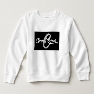 black chapel brook logo on kids sweat shirt