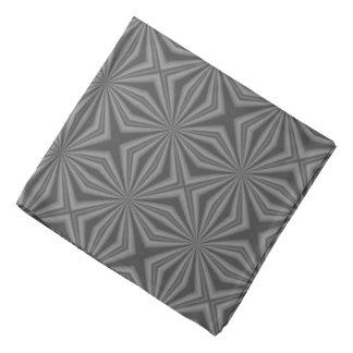 Black Charcoal Squiggly Squares Bandana