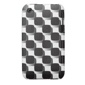 Black-checked Case-Mate Case iPhone 3 Cases