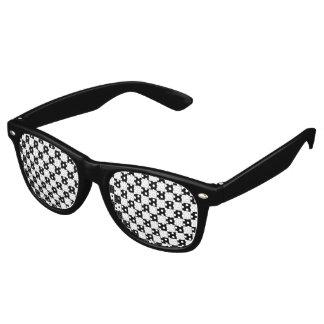 Black Checkerboard Pattern Retro Sunglasses