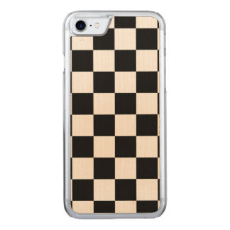 Black Checkered Carved iPhone 8/7 Case