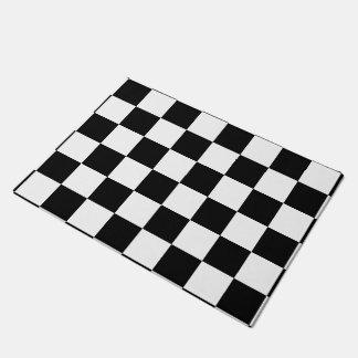 Black Checkered Doormat