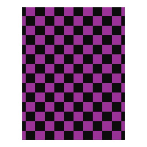 Black checkers on purple background custom flyer