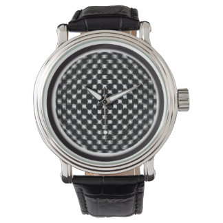 Black Checkers Watch