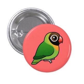 Black-cheeked Lovebird 3 Cm Round Badge