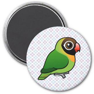 Black-cheeked Lovebird 7.5 Cm Round Magnet