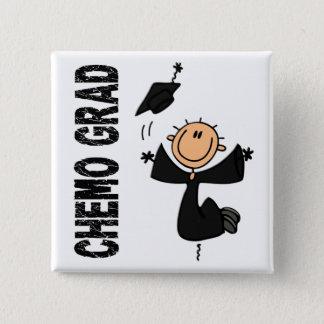 Black CHEMO GRAD 1 (Melanoma) 15 Cm Square Badge