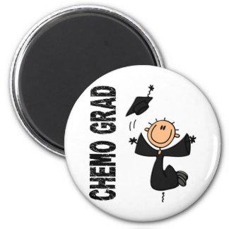 Black CHEMO GRAD 1 Melanoma Fridge Magnet