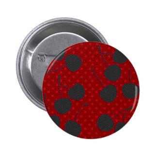 black cherries 6 cm round badge