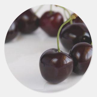 black cherry_3 classic round sticker