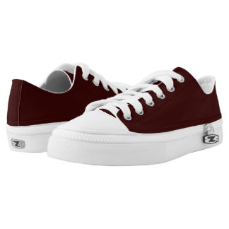 Black Cherry Lo-Top Printed Shoes