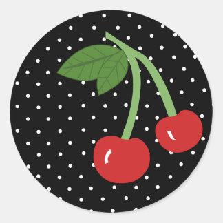 Black Cherry Round Sticker