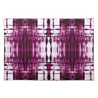 black-cherry-shibori-plaid placemat