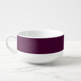 Black Cherry Solid Color Soup Mug