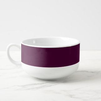 Black Cherry Soup Bowl With Handle