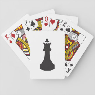 Black Chess Piece Playing Cards