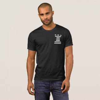 Black ChessME Crew Neck T-Shirt With White Rook