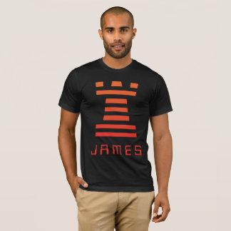 Black ChessME Tee Shirts Add Name With Orange Rook