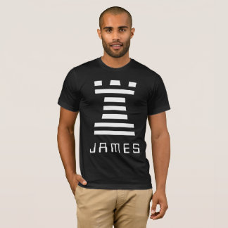 Black ChessME Tee Shirts Add Name With White Rook