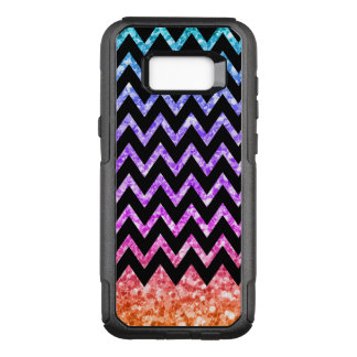 Black Chevron & Colorful Gredient Glitter OtterBox Commuter Samsung Galaxy S8+ Case
