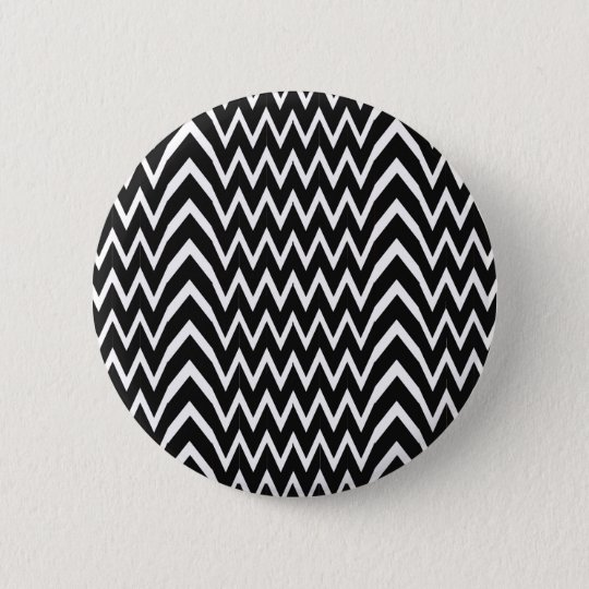 Black Chevron Illusion 6 Cm Round Badge