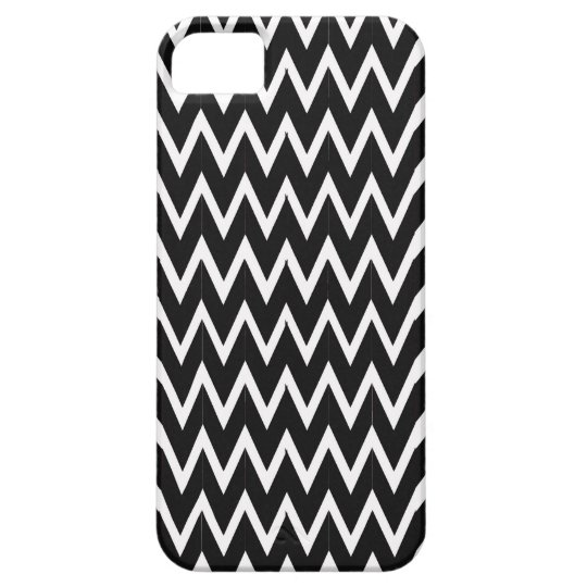 Black Chevron Illusion Barely There iPhone 5 Case