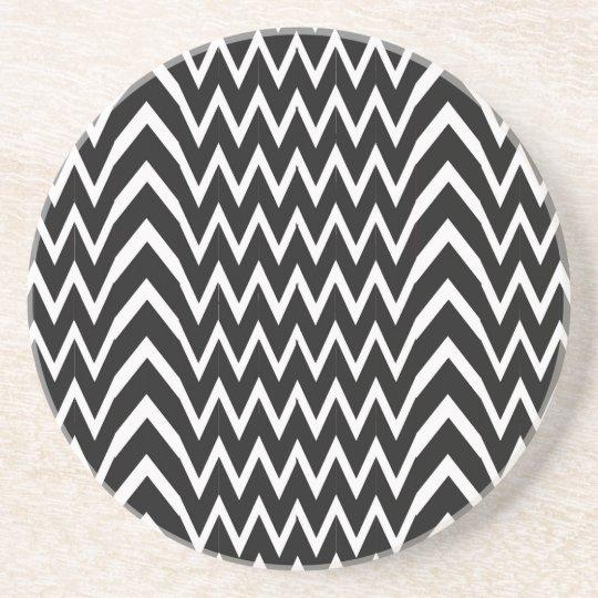 Black Chevron Illusion Coaster