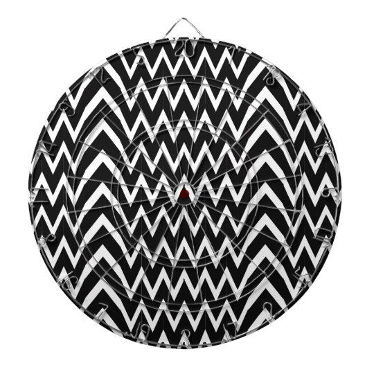 Black Chevron Illusion Dartboard