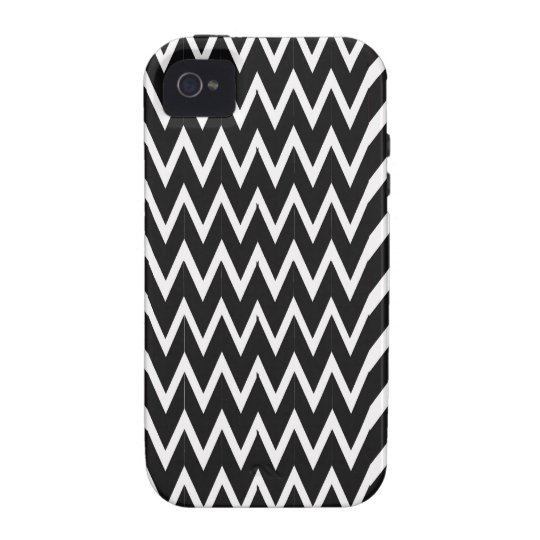 Black Chevron Illusion iPhone 4/4S Covers