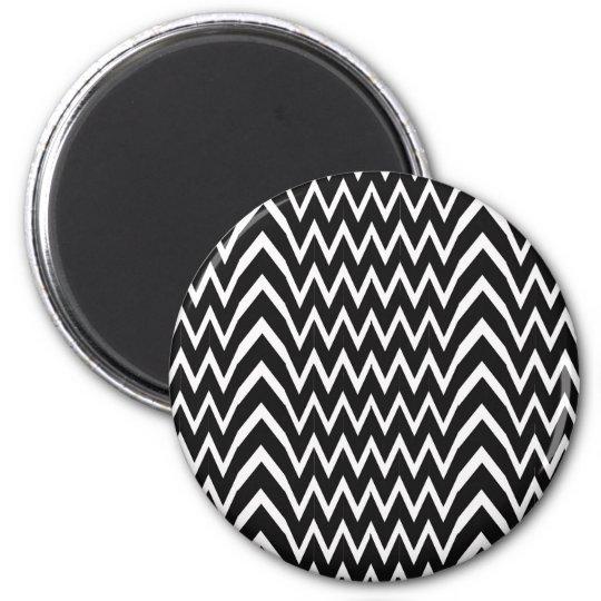 Black Chevron Illusion Magnet