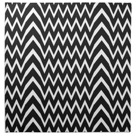Black Chevron Illusion Napkin