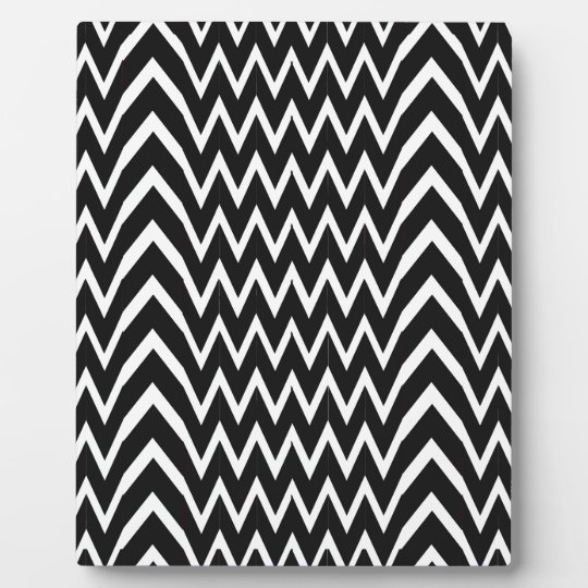 Black Chevron Illusion Plaque