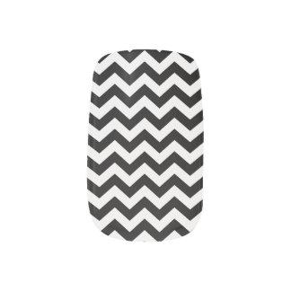 Black Chevron Nail Wrap
