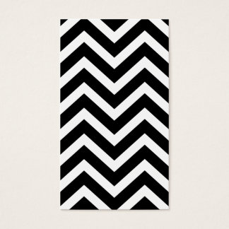 Black Chevron Striped Simple Plain Business Card