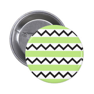 Black chevron zigzags and lime green stripes pin