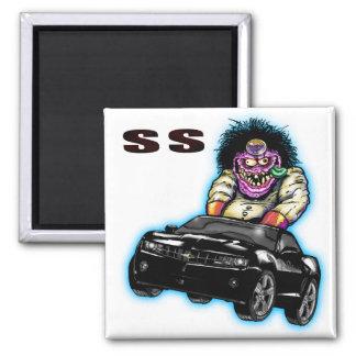 Black Chevy Camaro SS Magnet