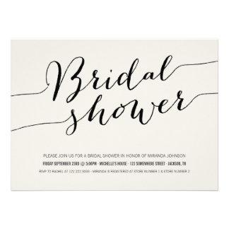 Black Chic Bridal Shower Invitations