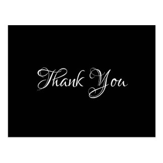 Black Chic Event Wedding Gift Budget Thank You Postcard