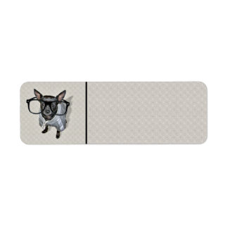 Black Chihuahua with Glasses Photo Return Address Label