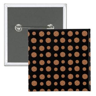 Black chocolate chip cookies pattern pin