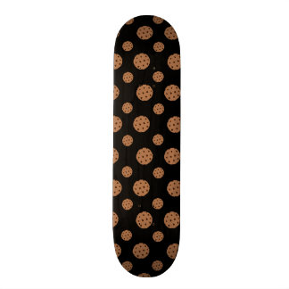 Black chocolate chip cookies pattern custom skate board