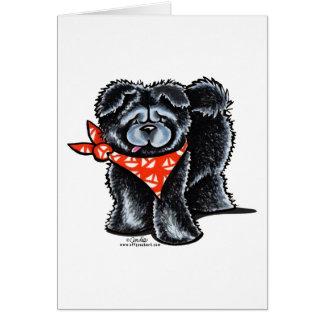 Black Chow Chow Sailor Card