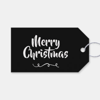 Black Christmas Gift Tag