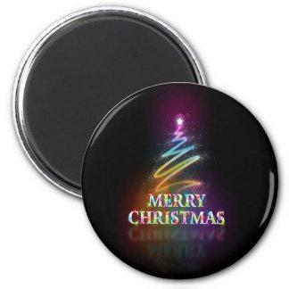 black christmas tree magnet