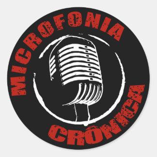 Black Chronic Microfonia adhesive Classic Round Sticker