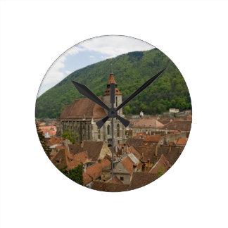 Black Church (Biserica Neagra) Brasov, Romania Round Clock