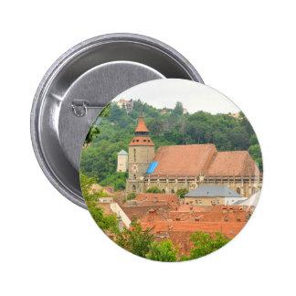 Black church in Brasov, Romania 6 Cm Round Badge